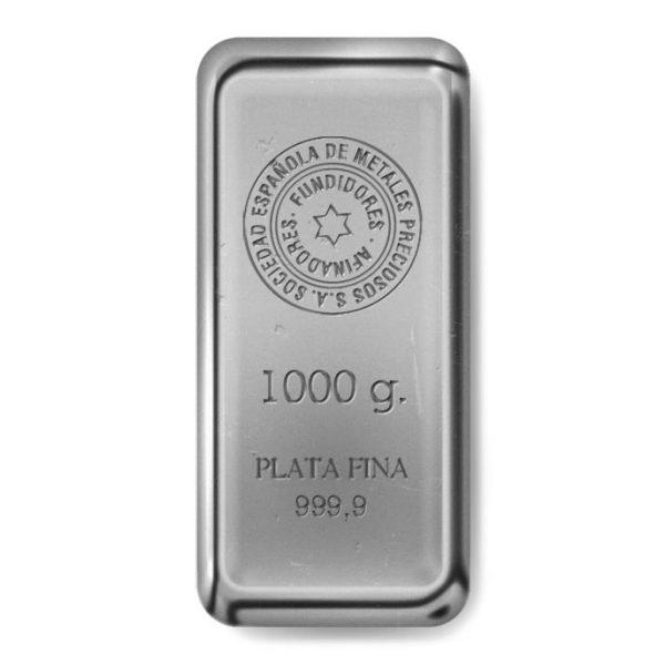Lingote plata 1000 gramos ORVALENCIA
